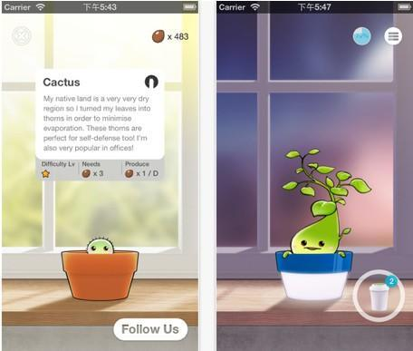 Daily iPhone App: Plant Nanny lets you water plants and yourself at the same time