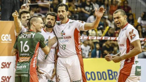 Vôlei Brasil Kirin vence duelo equilibrado contra Montes Claros