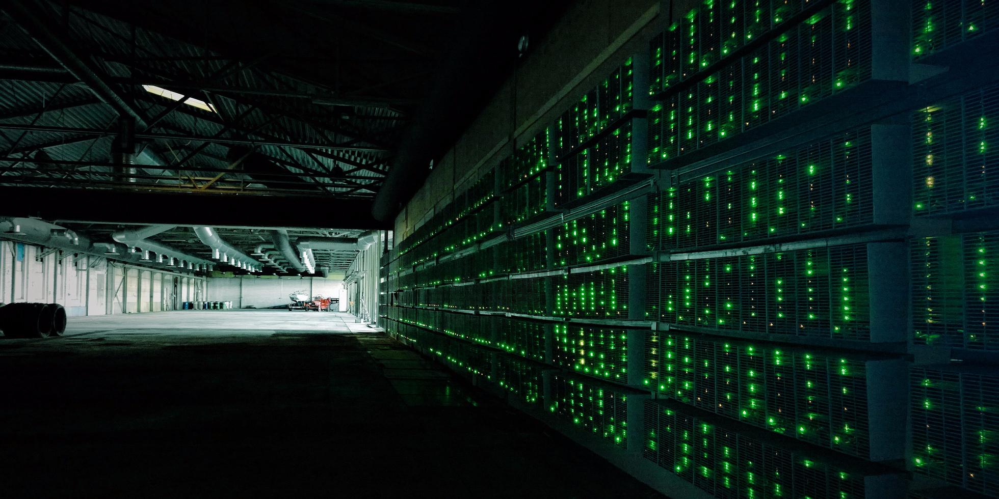 electric drive trucks mining bitcoins