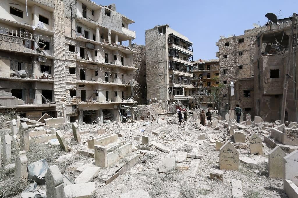 German authorities allege Ibrahim Al F led a 150-man district militia in Aleppo (AFP Photo/Zein Al-Rifai)