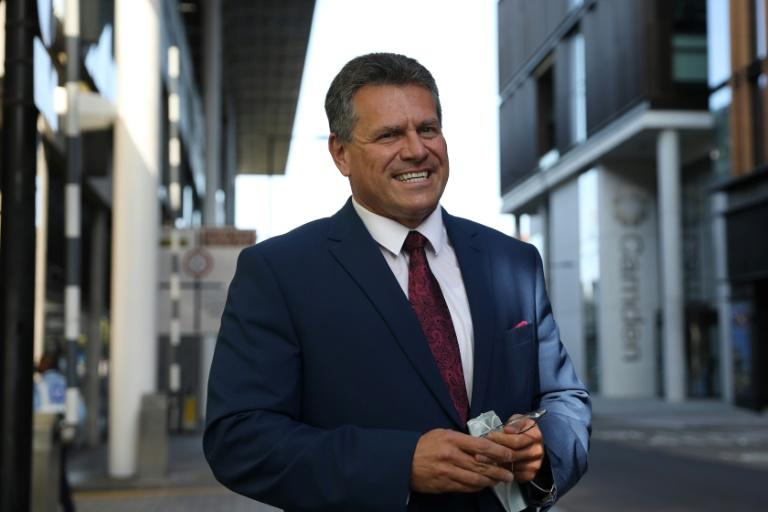 European Commission vice president Maros Sefcovic arrived in London demanding 'clarifications'