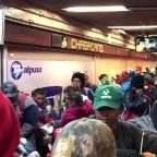 Migrants Fill Mexico City's Chabacano Metro Station En Route North to Querétaro
