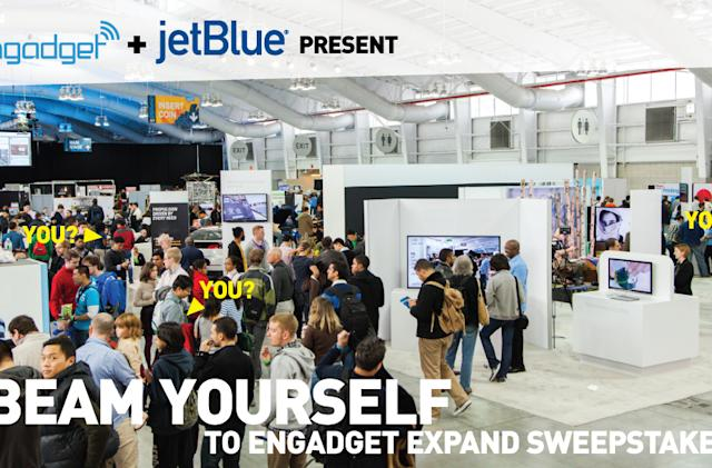 Engadget and JetBlue will beam you to Expand!