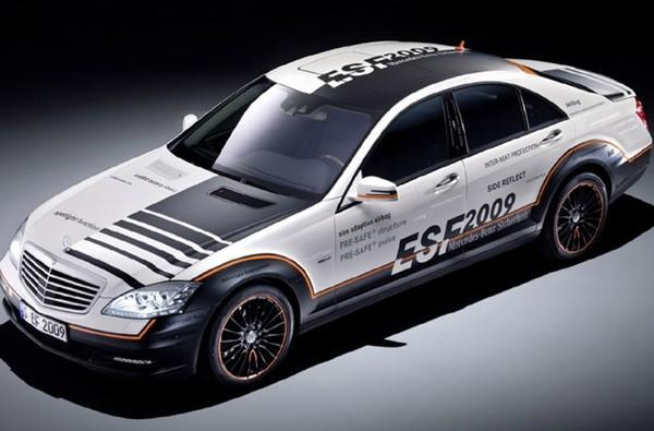 Mercedes debuts airbag-laden S-Class ESF hybrid concept
