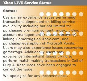 Xbox Live outage, day 13: still up and down, still preventing fun from being had