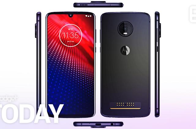 Leaked Moto Z4 pics show it's keeping the headphone jack and Moto Mods