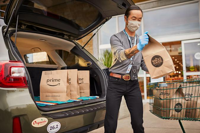 Amazon Prime free grocery pickup at Whole Foods