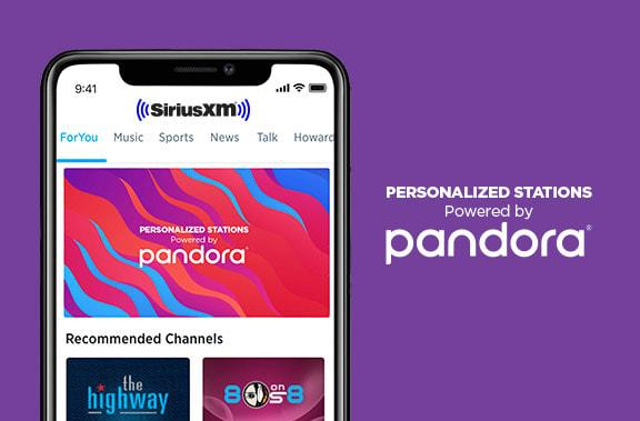 SiriusXM lets you customize music stations with Pandora