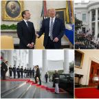 Trump and Macron in Pictures: U.S. Visit Suggests Pair Are Closer Than Ever