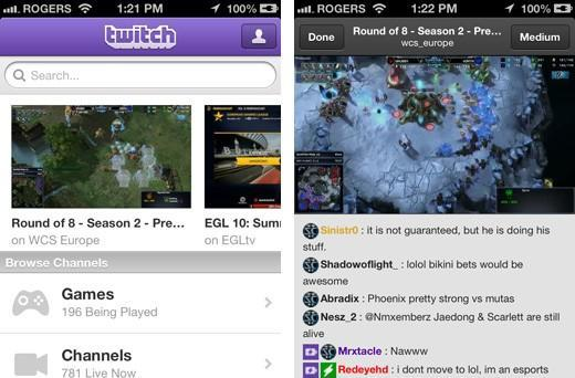 Twitch update for iOS more than triples live channels, revamps chat