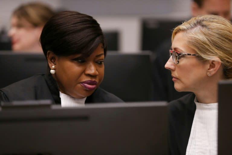 The United States placed sanctions on International Criminal Court prosecutor Fatou Bensouda (L)