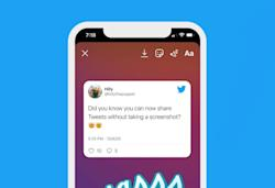 Twitter for iOS supports sending tweets to Instagram Stories