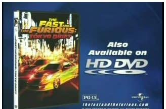 HD DVD gets pimped in Tokyo Drift commercial
