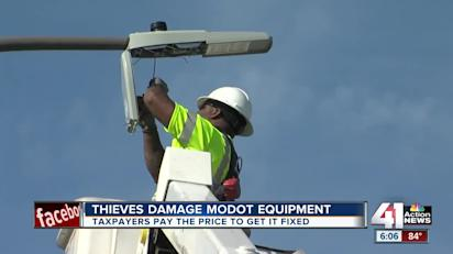 MoDOT: Attempted copper thefts shut down cameras, digital boards in  downtown loop