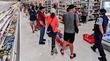 Panicked shoppers buy up 'three Christmases worth' of goods at Coles