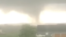Tornado Swirls Near Richmond, Virginia