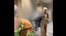 Fans react to Katy Perry's 'wildly uncomfortable' run-in with J.Lo — while changing into a cheeseburger dress