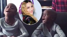 Madonna's adopted twins sing 'twinkle twinkle little star' as dad worries he's lost them forever