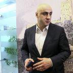 Georgian opposition leader arrested, protesters set up camp