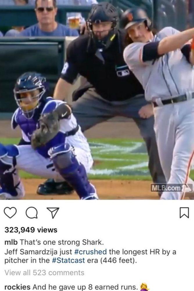 The Rockies troll the Giants and Jeff Samardzija on Instagram. (120 Sports)