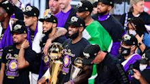 LeBron James took things in an odd direction when he was holding the Larry O'Brien Trophy