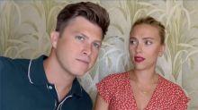 Colin Jost hilariously crashes Scarlett Johansson's appearance on 'Drag Race'