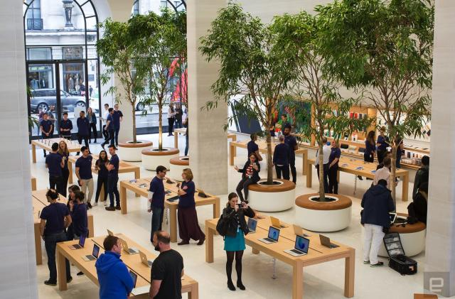 Inside the redesigned Apple Store on Regent Street