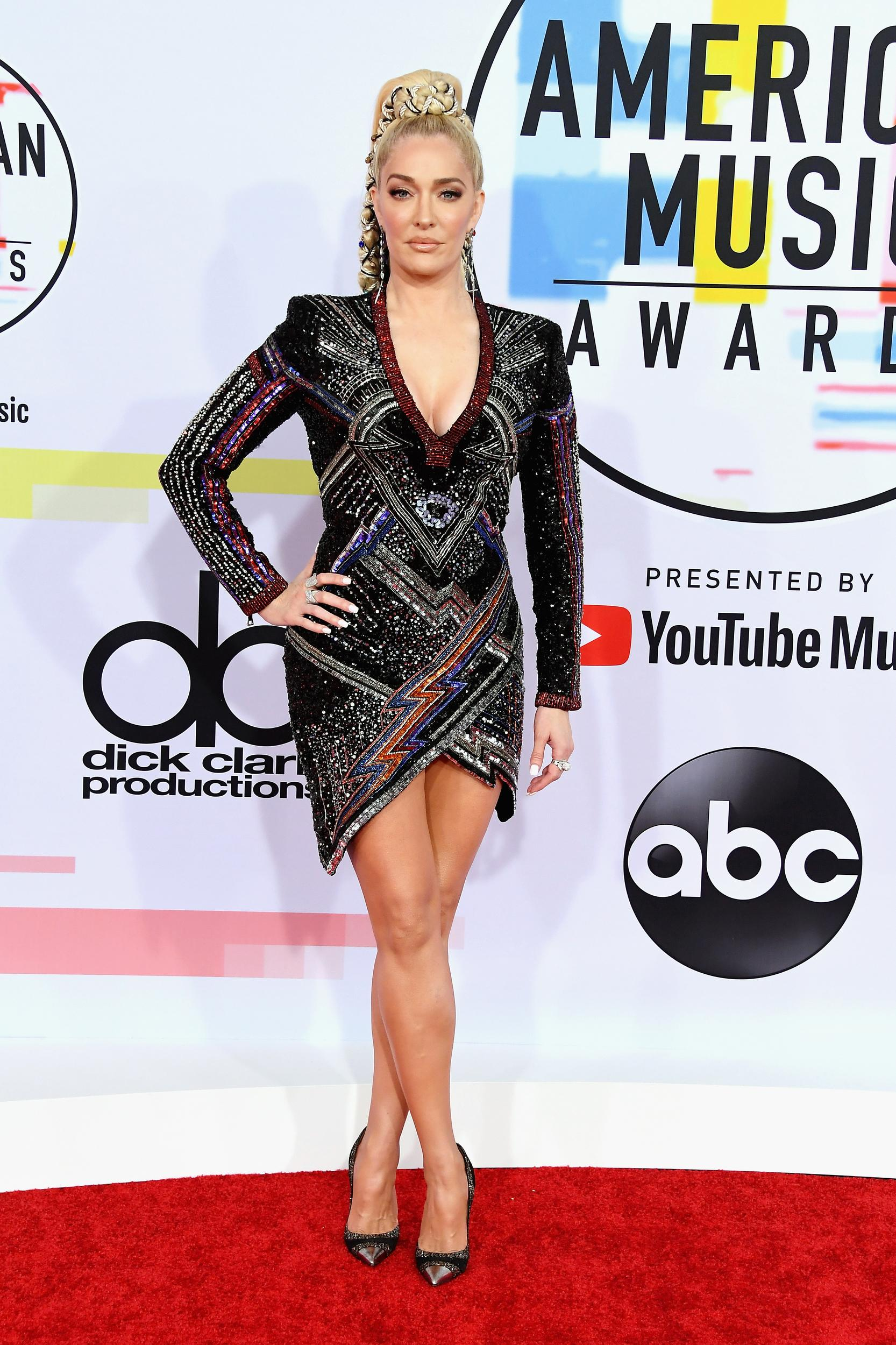 LOS ANGELES, CA - OCTOBER 09: Erika Jayne attends the 2018 American Music Awards at Microsoft Theater on October 9, 2018 in Los Angeles, California. (Photo by Steve Granitz/WireImage)