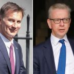 Jeremy Hunt and Michael Gove fight it out in race to challenge Boris Johnson... but Rory Stewart in running ahead of key ballot
