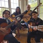 This family plays music together and calls themselves the 'Quarantined Quartet'