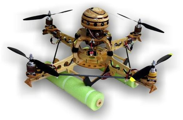 Wooden DIY quadrocopter gets no respect from Minnesota State Fair