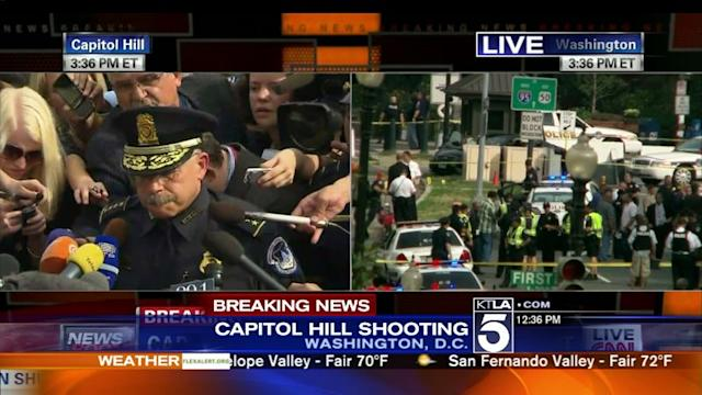 U.S. Capitol police hold news conference on Thursday`s shooting