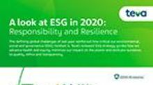 Teva Announces New Environmental, Social and Governance (ESG) Strategy and Goals in 2020 Report