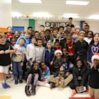 Obama Claus Comes to Town: Barack Rocks a Santa Hat to Visit Children at D.C. Boys & Girls Club