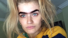 This model is leading the unibrow movement
