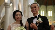 Chan Wing Chu and Helen Ng tie the knot