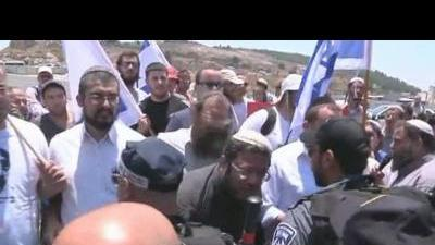 Right wing Israelis protest in Nazareth