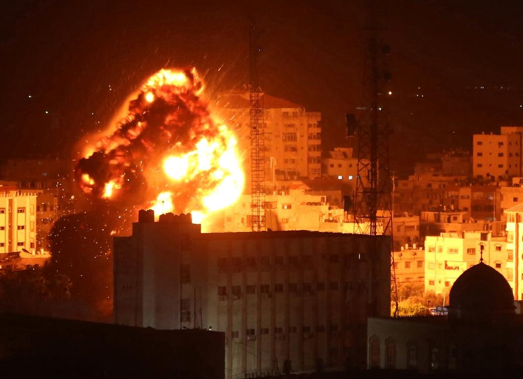 Israel has carried out multiple rounds of strikes against Gaza targets since the protests began, periodically raising fears of another war (AFP Photo/Majdi Fathi)