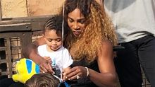 Tennis world erupts over bizarre photo of Serena Williams and daughter