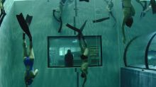 The world's deepest swimming pool is terrifying and exciting