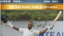 1st Test: India 399/3 at stumps on Day 1 against SL