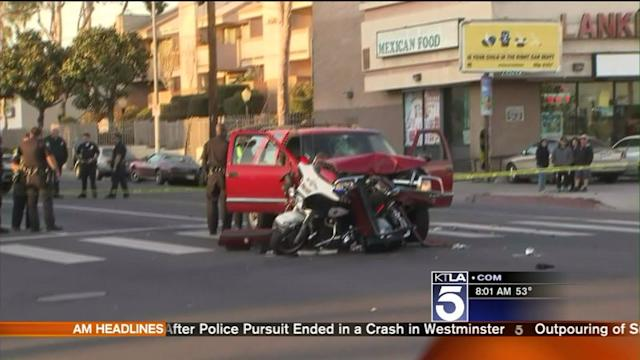 LAPD Motorcycle Officer in Critical Condition; Woman Arrested for DUI