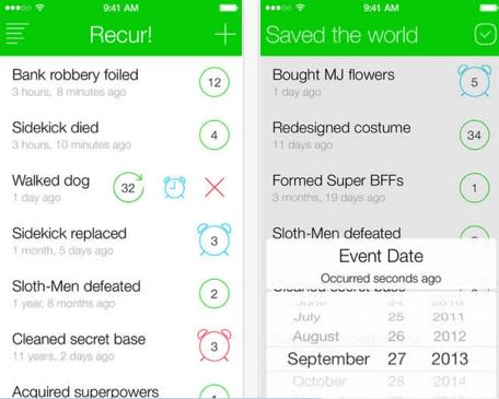 Daily iPhone App: Recur! takes the to-do list and turns it around