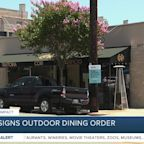 Mayor signs outdoor dining order