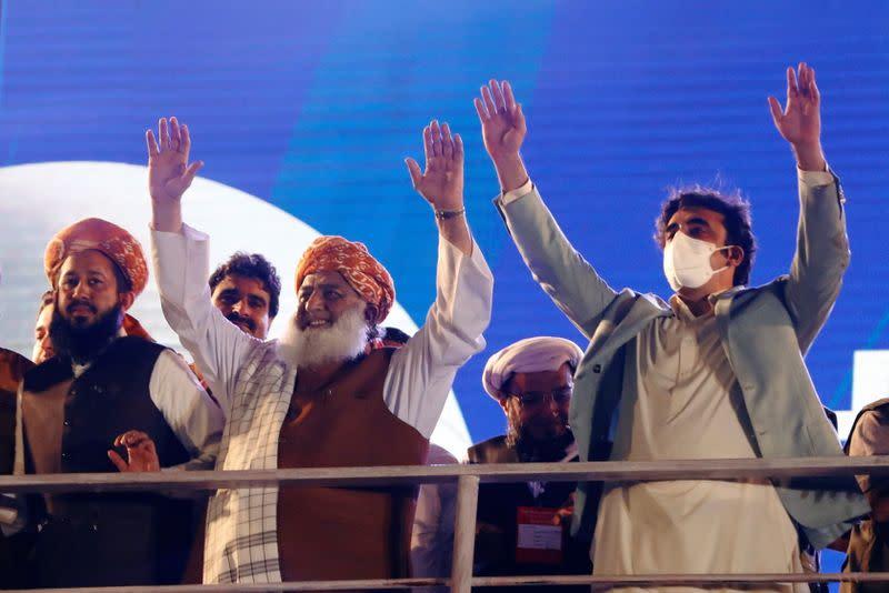 Anti-government protest rally in Karachi