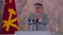 North Korea displays huge new ICBM at coronavirus-defying parade