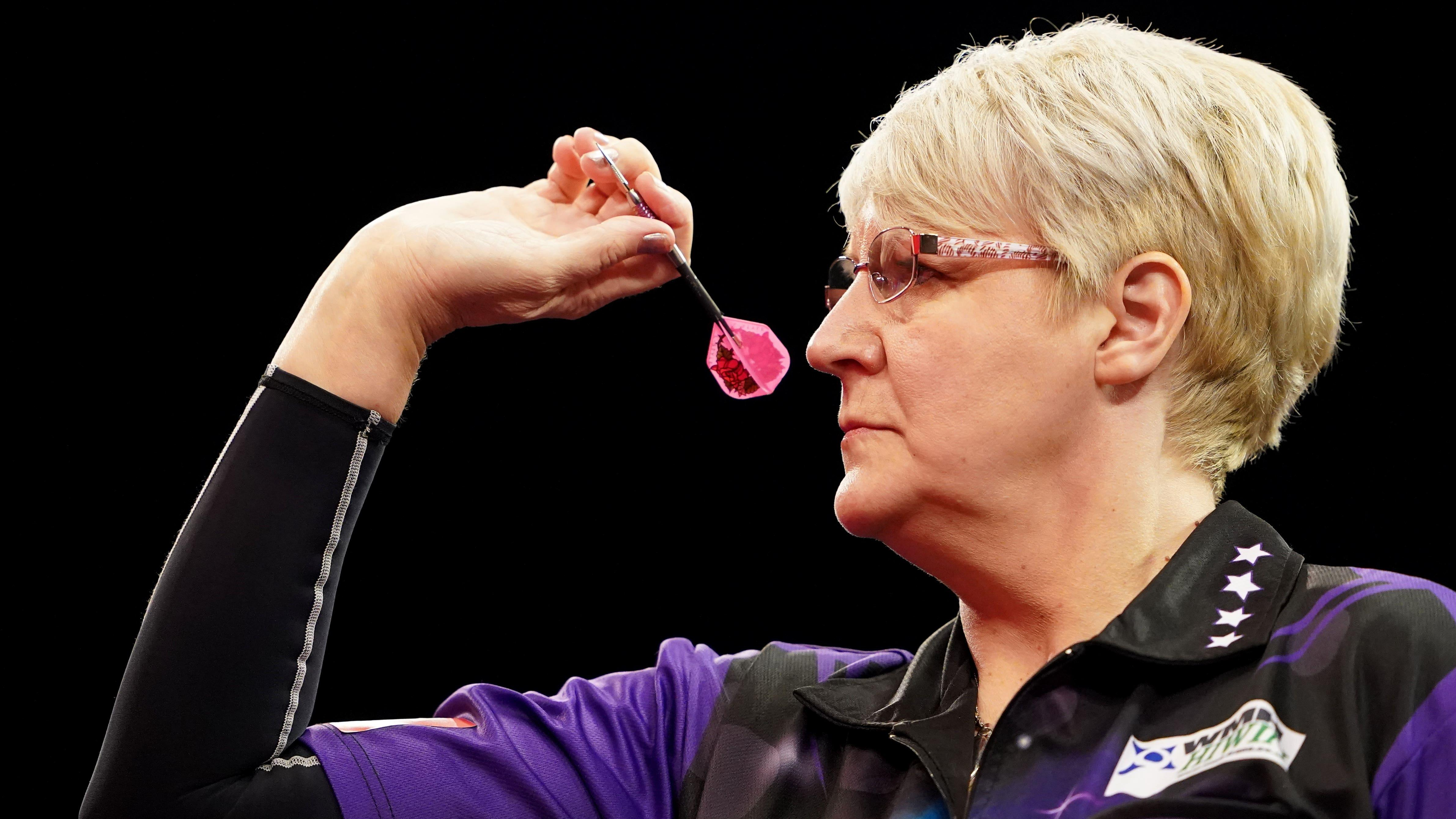 Lisa Ashton makes darts history with win at UK Open before third-round exit
