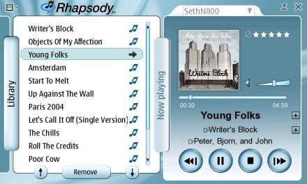 Nokia and Real add Rhapsody to the N800