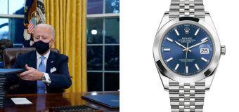 President Biden wore a Rolex Datejust watch in Office