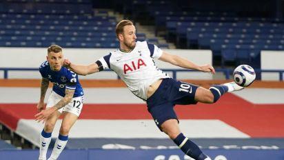 Everton 2-2 Tottenham: Harry Kane injury caps tough night for Jose Mourinho's Spurs at Goodison Park